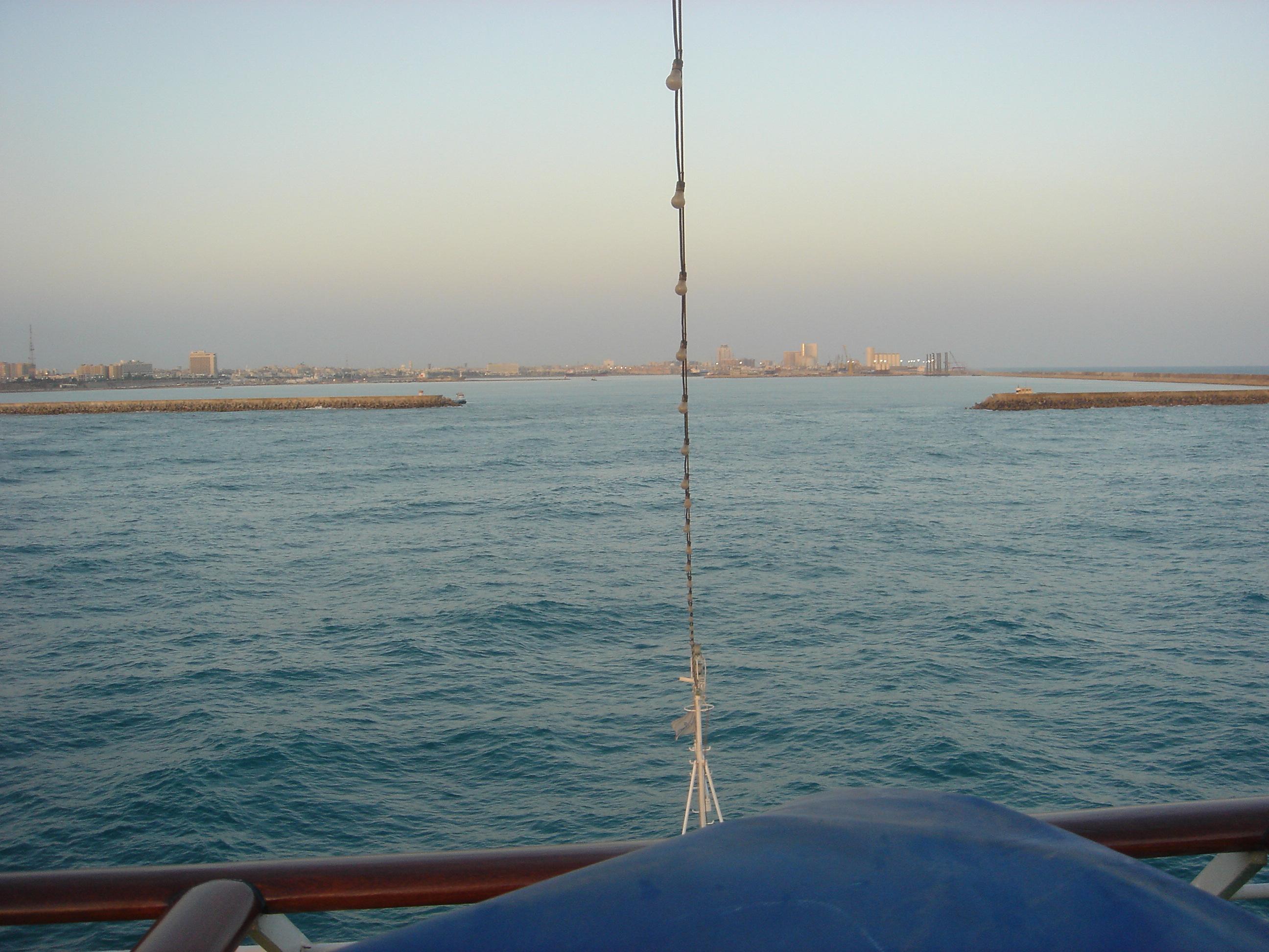 entrant al port de tripoli gadafi